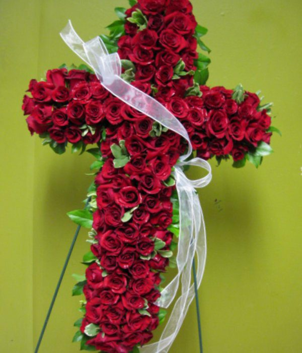Red Funeral Cross